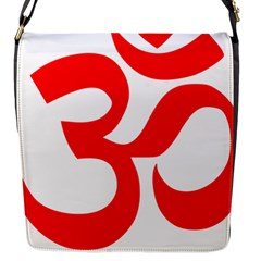 Hindu Om Symbol (red) Flap Messenger Bag (s) by abbeyz71