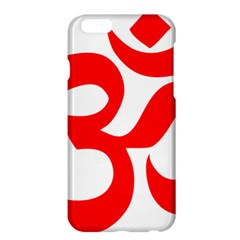 Hindu Om Symbol (red) Apple Iphone 6 Plus/6s Plus Hardshell Case by abbeyz71