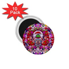 Hawaiian Poi Cartoon Dog 1 75  Magnets (10 Pack)  by pepitasart