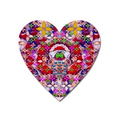 Hawaiian Poi Cartoon Dog Heart Magnet by pepitasart