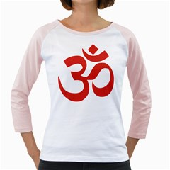 Hindu Om Symbol (red) Girly Raglans by abbeyz71