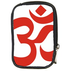 Hindu Om Symbol (red) Compact Camera Cases by abbeyz71
