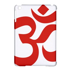 Hindu Om Symbol (red) Apple Ipad Mini Hardshell Case (compatible With Smart Cover) by abbeyz71