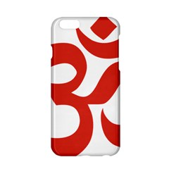 Hindu Om Symbol (red) Apple Iphone 6/6s Hardshell Case by abbeyz71