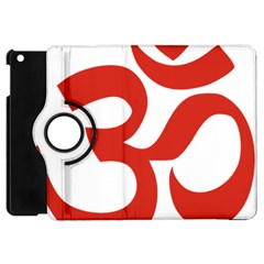 Hindu Om Symbol (red) Apple Ipad Mini Flip 360 Case by abbeyz71