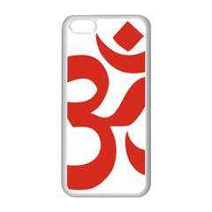 Hindu Om Symbol (red) Apple Iphone 5c Seamless Case (white) by abbeyz71
