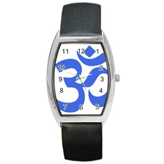 Hindu Om Symbol (royal Blue) Barrel Style Metal Watch by abbeyz71