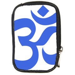 Hindu Om Symbol (royal Blue) Compact Camera Cases by abbeyz71