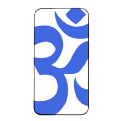 Hindu Om Symbol (royal Blue) Apple Iphone 4/4s Seamless Case (black) by abbeyz71