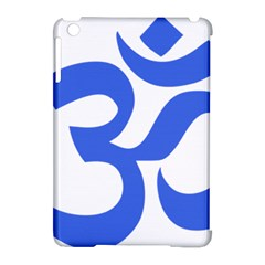 Hindu Om Symbol (royal Blue) Apple Ipad Mini Hardshell Case (compatible With Smart Cover) by abbeyz71