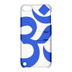 Hindu Om Symbol (royal Blue) Apple Ipod Touch 5 Hardshell Case With Stand by abbeyz71