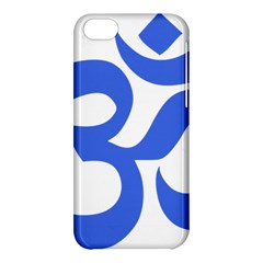 Hindu Om Symbol (royal Blue) Apple Iphone 5c Hardshell Case by abbeyz71