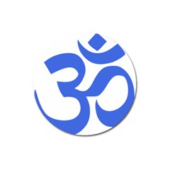 Hindu Om Symbol (royal Blue) Magnet 3  (round) by abbeyz71