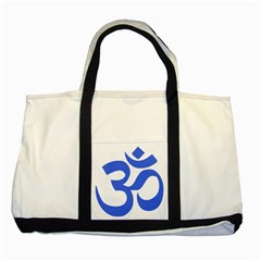 Hindu Om Symbol (royal Blue) Two Tone Tote Bag