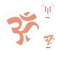 Hindu Om Symbol (salmon) Playing Cards (heart)  by abbeyz71