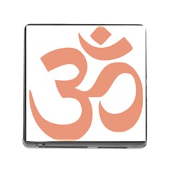 Hindu Om Symbol (salmon) Memory Card Reader (square) by abbeyz71