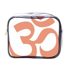 Hindu Om Symbol (salmon) Mini Toiletries Bags by abbeyz71