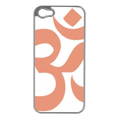 Hindu Om Symbol (salmon) Apple Iphone 5 Case (silver) by abbeyz71