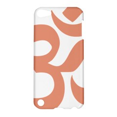 Hindu Om Symbol (salmon) Apple Ipod Touch 5 Hardshell Case by abbeyz71
