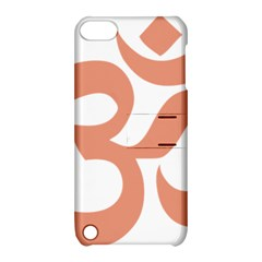 Hindu Om Symbol (salmon) Apple Ipod Touch 5 Hardshell Case With Stand by abbeyz71