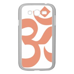 Hindu Om Symbol (salmon) Samsung Galaxy Grand Duos I9082 Case (white) by abbeyz71
