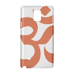 Hindu Om Symbol (salmon) Samsung Galaxy Note 4 Hardshell Case by abbeyz71