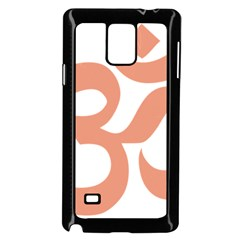 Hindu Om Symbol (salmon) Samsung Galaxy Note 4 Case (black) by abbeyz71