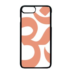 Hindu Om Symbol (salmon) Apple Iphone 7 Plus Seamless Case (black) by abbeyz71
