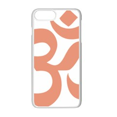 Hindu Om Symbol (salmon) Apple Iphone 7 Plus White Seamless Case by abbeyz71