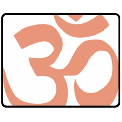 Hindu Om Symbol (salmon) Fleece Blanket (medium)  by abbeyz71
