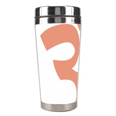 Hindu Om Symbol (salmon) Stainless Steel Travel Tumblers by abbeyz71
