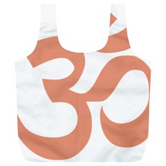 Hindu Om Symbol (salmon) Full Print Recycle Bags (l)  by abbeyz71