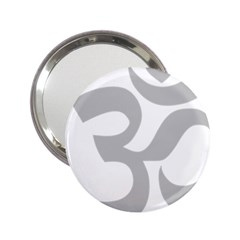 Hindu Om Symbol (gray) 2 25  Handbag Mirrors by abbeyz71