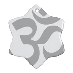 Hindu Om Symbol (gray) Ornament (snowflake) by abbeyz71