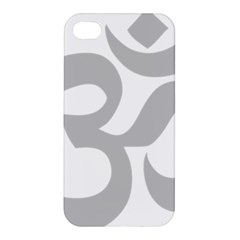 Hindu Om Symbol (gray) Apple Iphone 4/4s Hardshell Case by abbeyz71