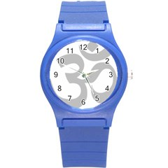 Hindu Om Symbol (gray) Round Plastic Sport Watch (s) by abbeyz71