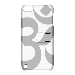 Hindu Om Symbol (gray) Apple Ipod Touch 5 Hardshell Case With Stand by abbeyz71