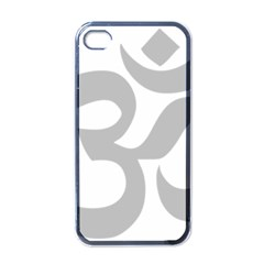 Hindu Om Symbol (gray) Apple Iphone 4 Case (black) by abbeyz71