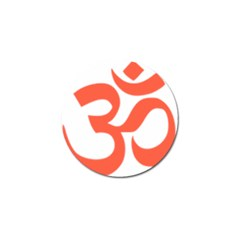 Hindu Om Symbol (peach) Golf Ball Marker by abbeyz71