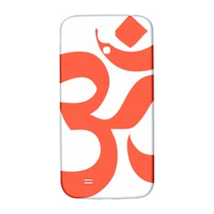 Hindu Om Symbol (peach) Samsung Galaxy S4 I9500/i9505  Hardshell Back Case by abbeyz71