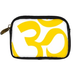 Hindu Om Symbol (yellow) Digital Camera Cases by abbeyz71