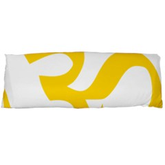 Hindu Om Symbol (yellow) Body Pillow Case Dakimakura (two Sides) by abbeyz71