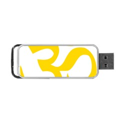 Hindu Om Symbol (yellow) Portable Usb Flash (one Side) by abbeyz71