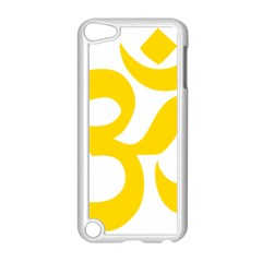 Hindu Om Symbol (yellow) Apple Ipod Touch 5 Case (white) by abbeyz71