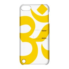 Hindu Om Symbol (yellow) Apple Ipod Touch 5 Hardshell Case With Stand by abbeyz71