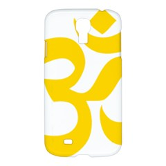Hindu Om Symbol (yellow) Samsung Galaxy S4 I9500/i9505 Hardshell Case by abbeyz71