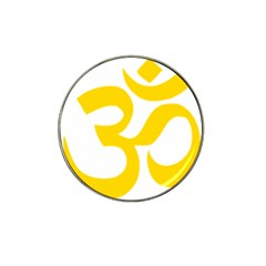 Hindu Om Symbol (yellow) Hat Clip Ball Marker (10 Pack) by abbeyz71