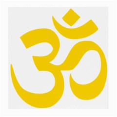 Hindu Om Symbol (yellow) Medium Glasses Cloth (2 Side) by abbeyz71