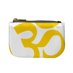 Hindu Om Symbol (yellow) Mini Coin Purses by abbeyz71