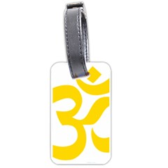 Hindu Om Symbol (yellow) Luggage Tags (two Sides)